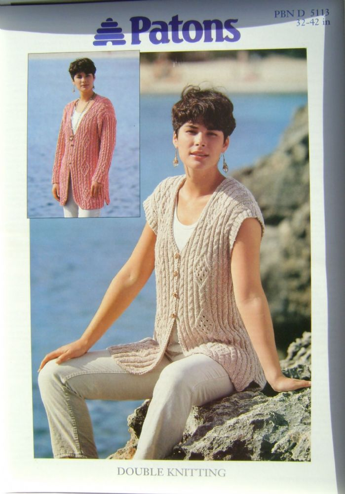 Patons Knitting Pattern 5113